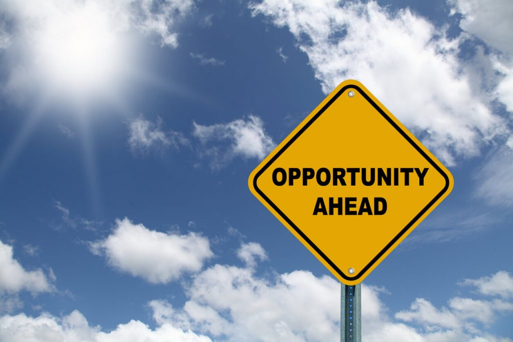 sign showing there's opportunity ahead
